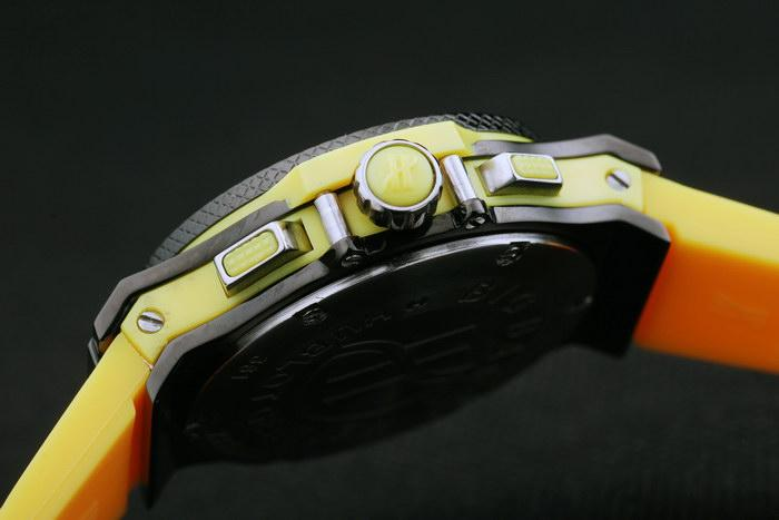 hublot black surface yellow bracelet women watches